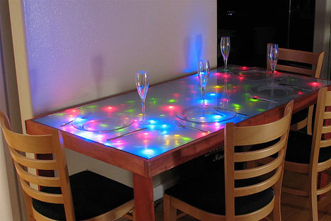 unusual dining room furniture led lighted table
