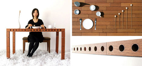unusual dining room furniture musical table