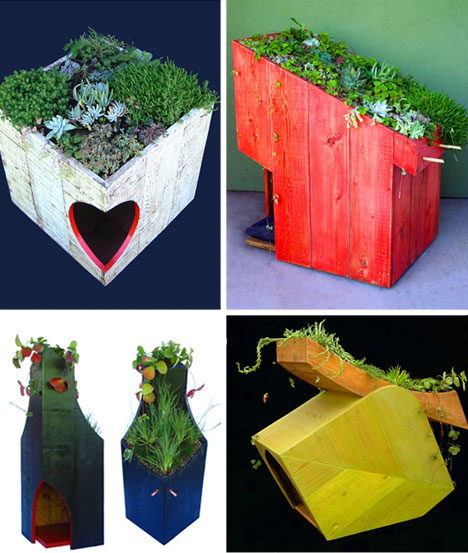 unusual garden furniture pet houses