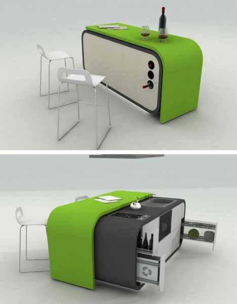 Modern Mobile  Kitchen Concept