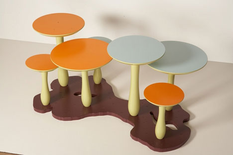 unusually cool kids furniture mushroom tables