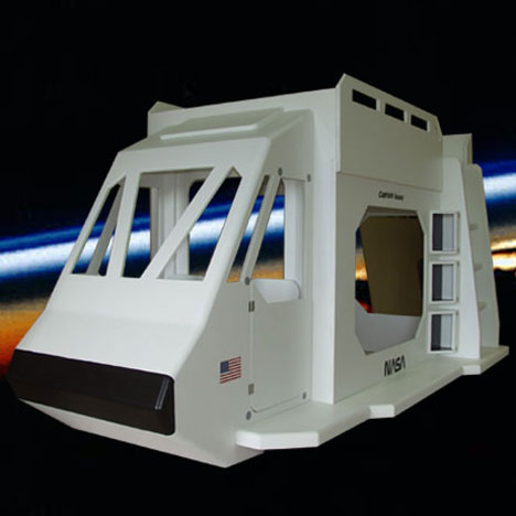 unusually cool kids furniture space shuttle bed
