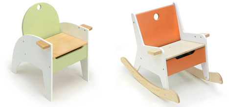 Unusually Cool Kids Furniture Storage Chairs