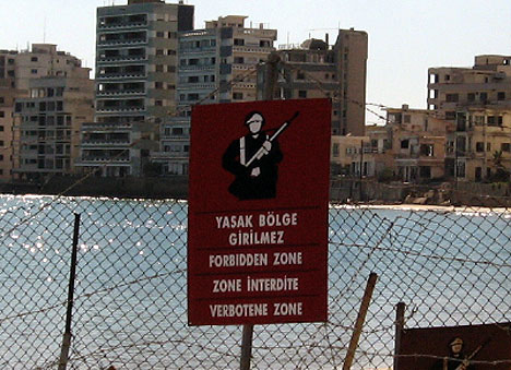 Varosha Warning Sign