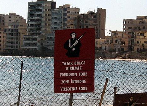 Varosha Warning Sign