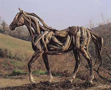 Beautiful Dreamy Driftwood Horse Sculptures of Heather Jansch | Urbanist BE84