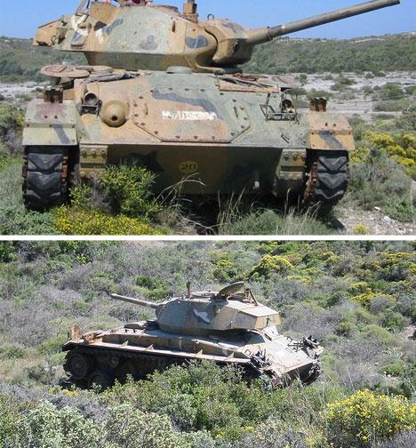 abandoned tank greece