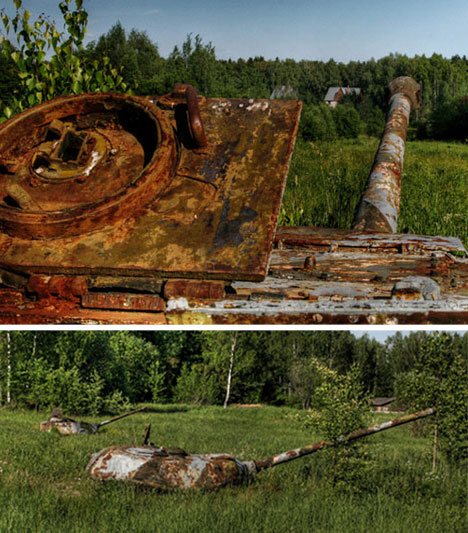 abandoned tanks russia