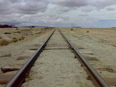 abandoned train tracks bolivia