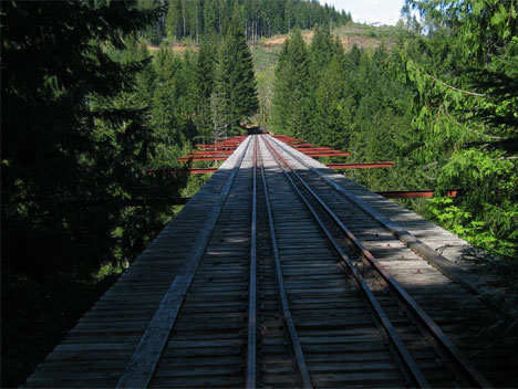 abandoned vance creek railroad bridge