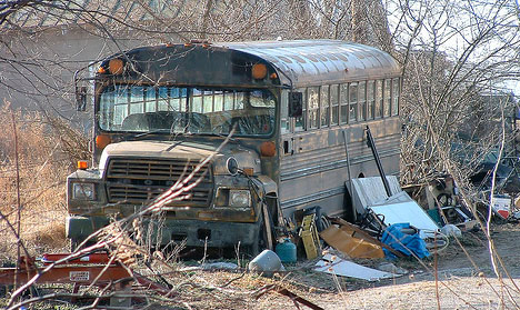 abandoned vehicles old abandoned school bus