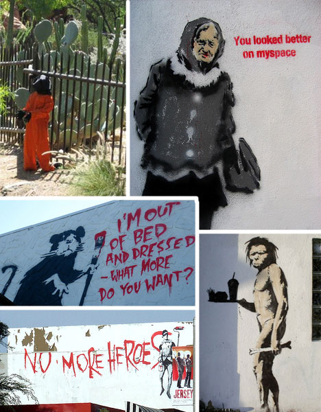 banksy california los angeles street art graffiti guantanamo bay disneyland
