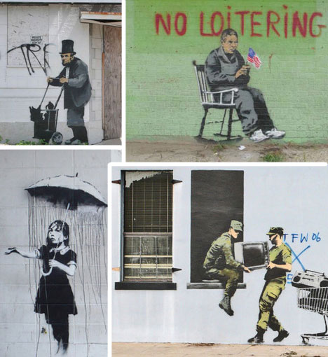 banksy new orleans graffiti