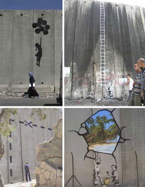 banksy palestine wall graffiti