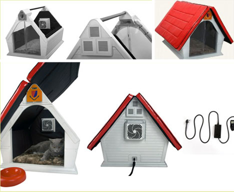 cool pet house air conditioned doghouse