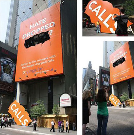 guerrilla marketing cingular billboard