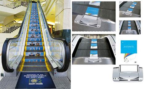 guerrilla marketing escalators
