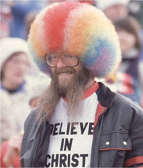 guerrilla marketing rainbow man