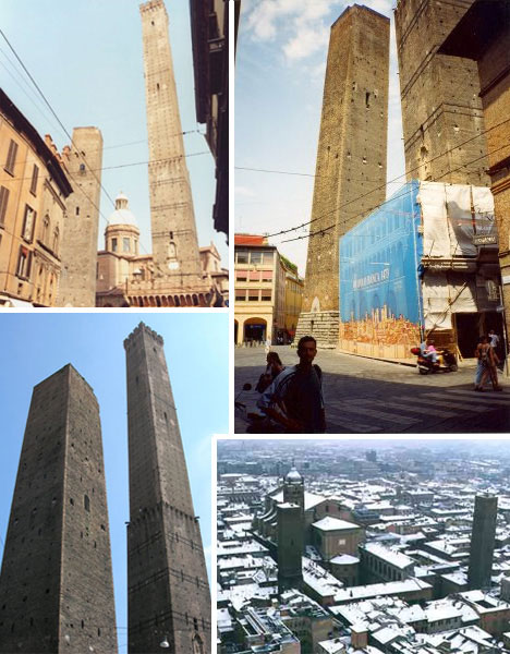 leaning towers bologna