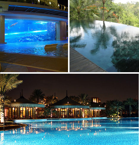 luxurious swimming pools