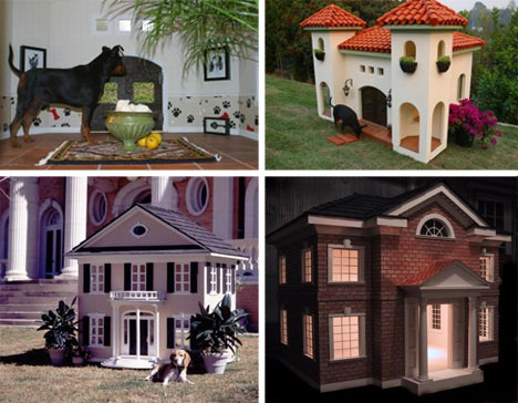 luxury dog houses mansions