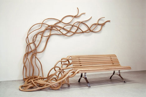 spaghetti bench outdoor art furniture