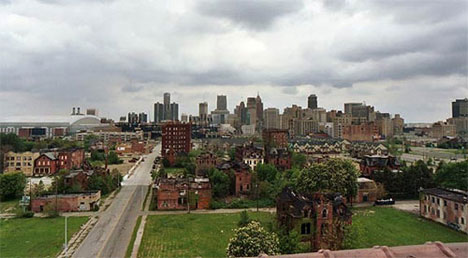 abandoned neighborhood detroit michigan