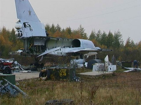 abandoned russian airplane
