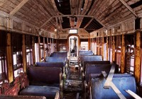 Abandoned Train Interior Photo