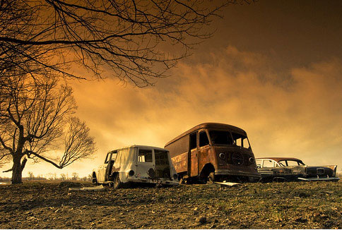 Abandoned Vans Vehicles Photo