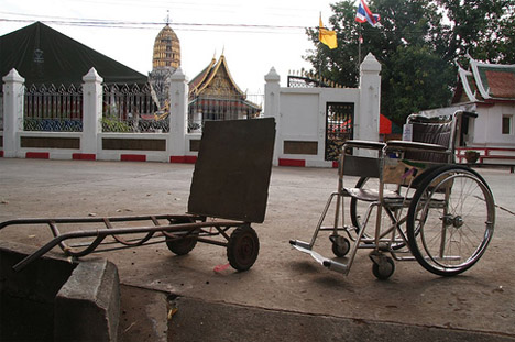 Abandoned Wheelchair Vehicle Photo