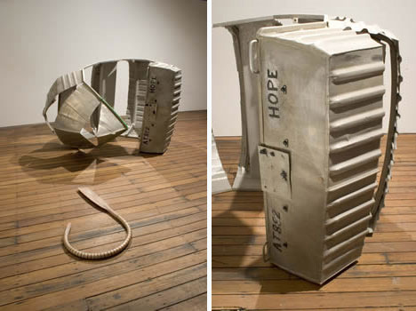 robbie rowlands deconstructed boat art object