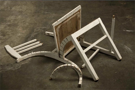 robbie rowlands deconstructed chair art object