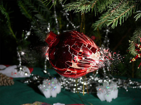 stefan high speed photography christmas ornament
