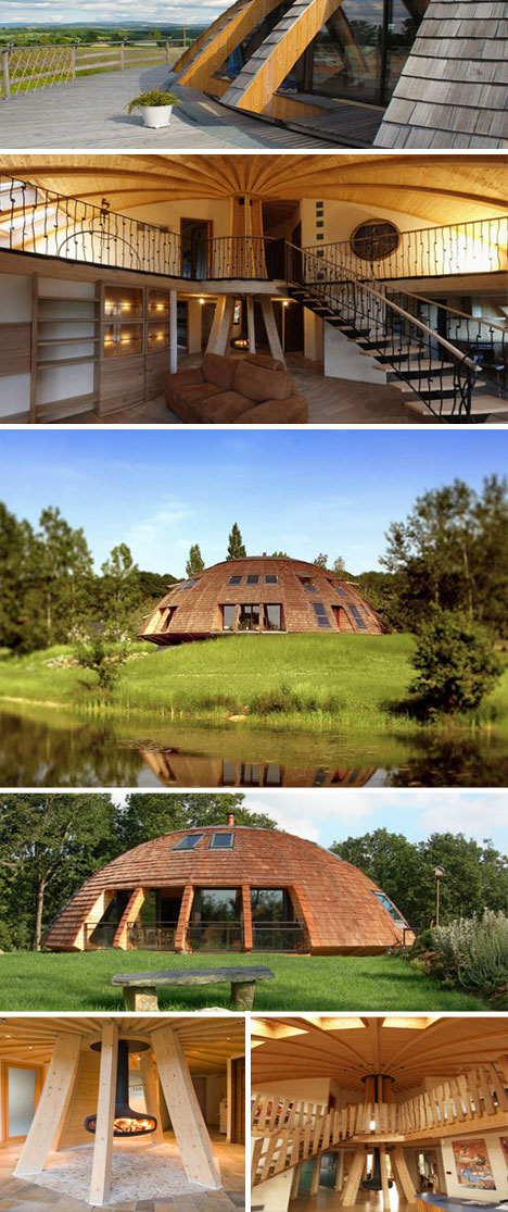 Sustainable and Rotating Eco Dome Home