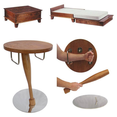 Coffee Table Bed and Self Defence Table