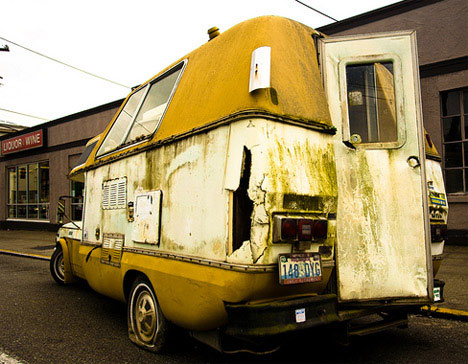 Abandoned Camper Van Vehicle