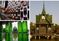 Recycled Glass Bottle Building