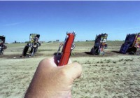 Michael Hughes Amarillo TX Cadillac Ranch souvenir photo