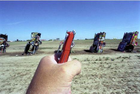 Michael Hughes Amarillo Tx Cadillac Ranch Souvenir Photo
