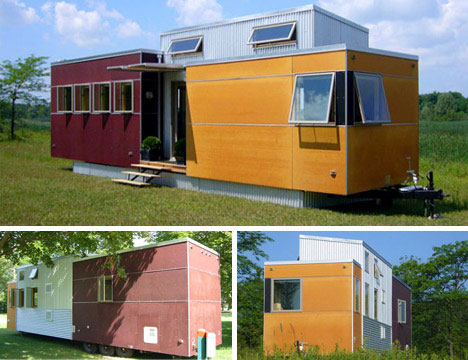 This Prefab Mini Mobile Home Is A Great Example Of How A Designer Can Pack  A Great Variety Of Materials And Dimensions Into A Relatively Compact And  ...