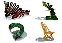 Curved Plywood Prefab Furniture Designs