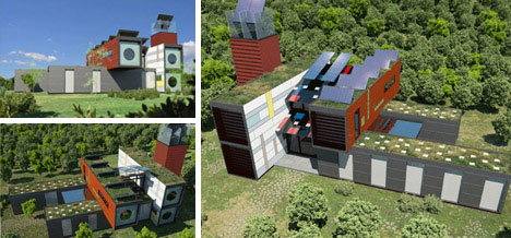 Super Sustainable Cargo Container Home