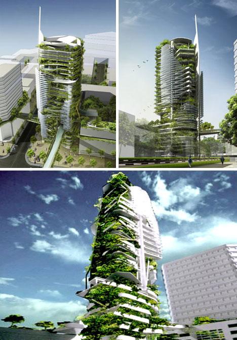 Sustainable Living Walled Skyscraper Urbanist