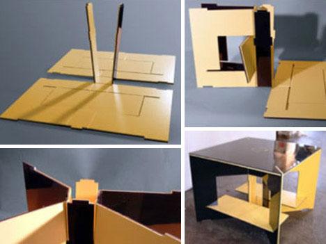 Flat pack bookcase design urbanist for Household design method