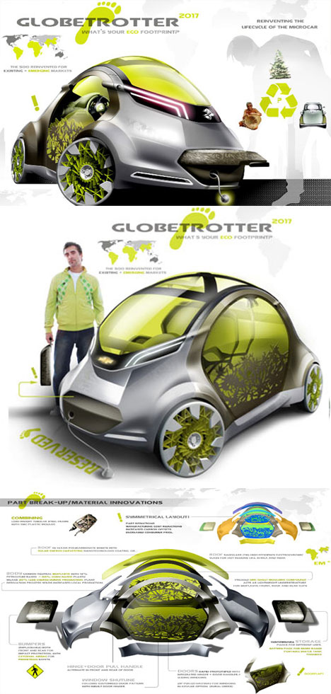 Super Futuristic Green Car Design