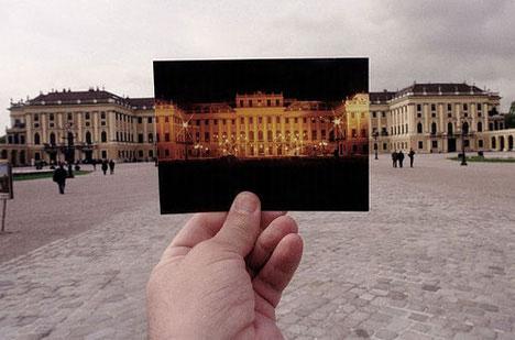 Michael Hughes Vienna Austria palace postcard photograph