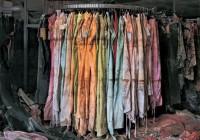 Chris Jordan - In Katrina's Wake - clothing store rack