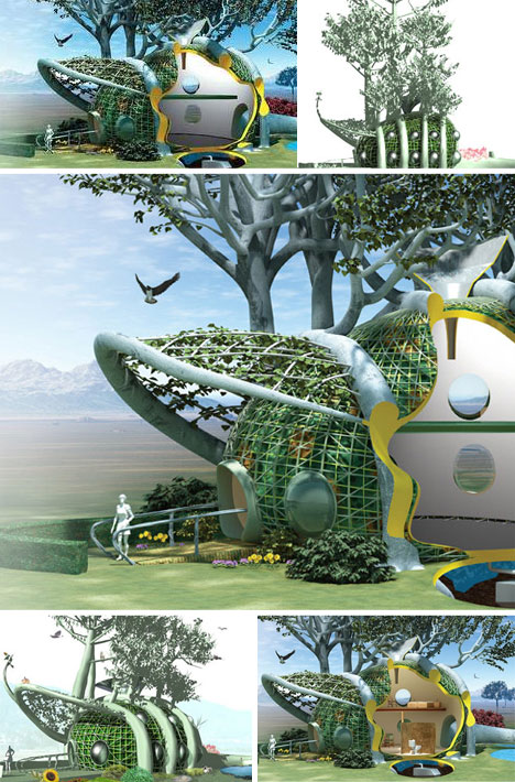Organic Self Growing House Design
