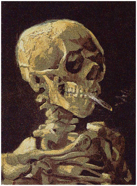 Chris Jordan - Skull with Cigarettes